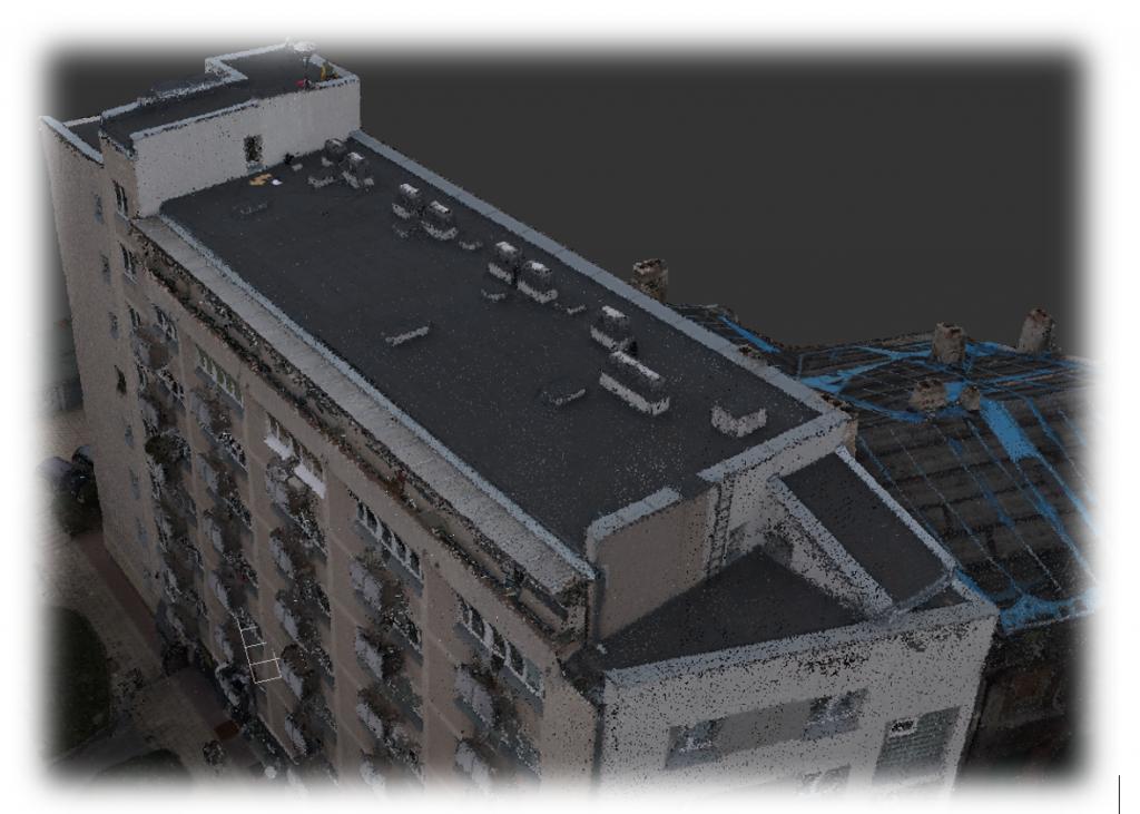 Inwentaryzacja architektoniczna dachu budynku przy ulicy Mokotowskiej w Warszawie