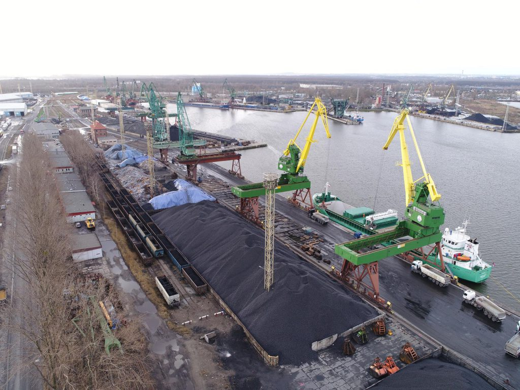 Inwentaryzacja składowisk węgla dla kluczowego importera węgla drogą morską