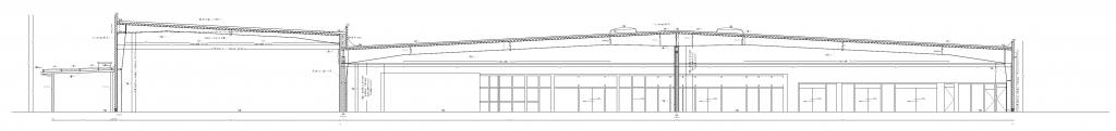 Inwentaryzacja architektoniczna hipermarketu Tesco przy ulicy Stalowej w Warszawie