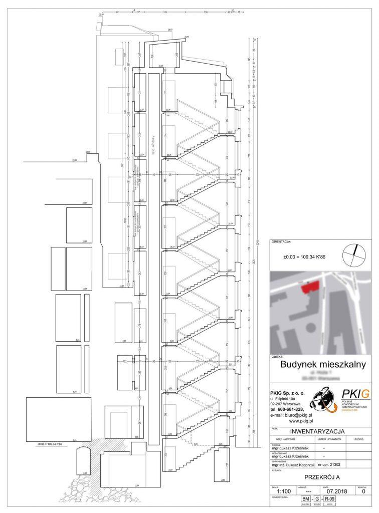 Inwentaryzacja architektoniczna budynku przy ulicy Hożej w Warszawie