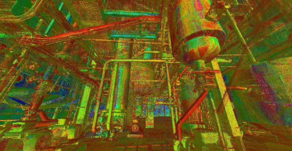 Skaning laserowy zakładu przemysłowego
