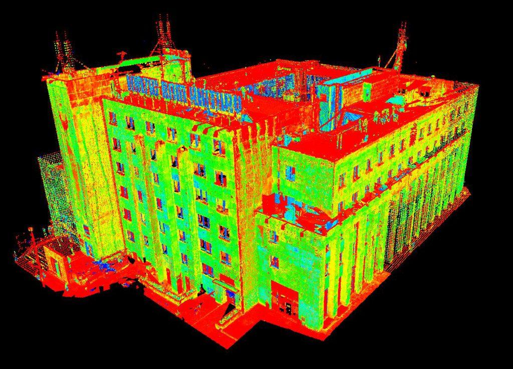 Skaning laserowy budynku Łódzkiego Domu Kultury