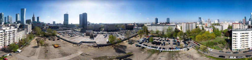 Panoramy Warszawy na cele wizualizacji