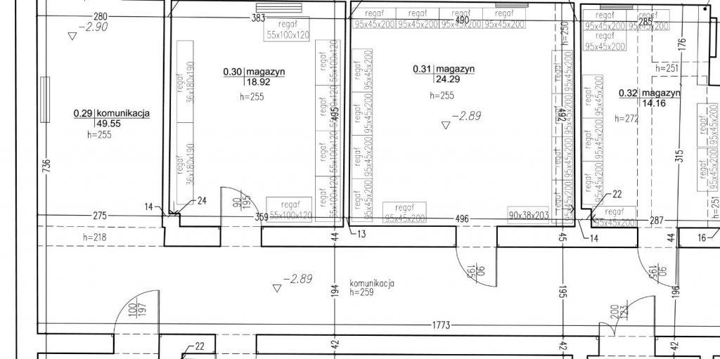 Inwentaryzacja architektoniczna budynku biurowego wraz z aranżacją meblową
