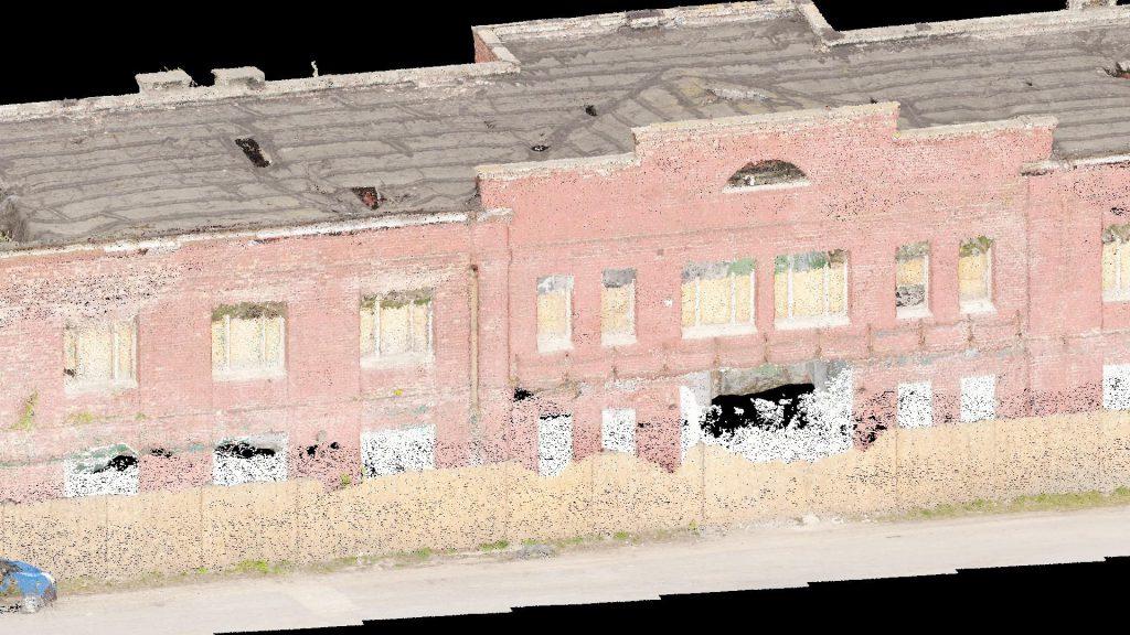Skaning laserowy budynku pod rozbiórkę na Ursusie