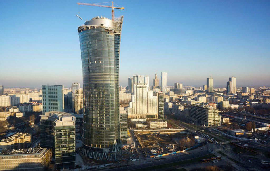 Zdjęcia Warszawy na cele wizualizacji nowych budynków