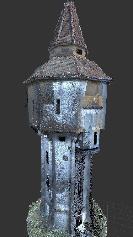 Inwentaryzacja wieży ciśnień w Widawie