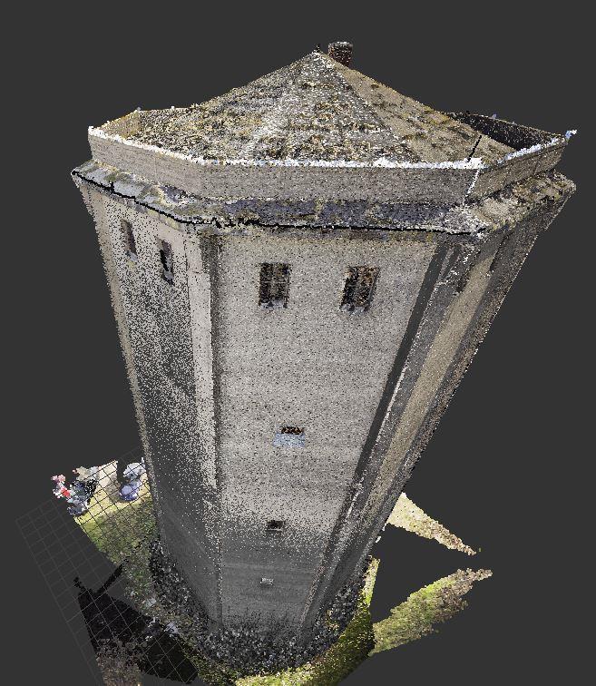 Skaning laserowy wieży w Tomaszowie Mazowieckim