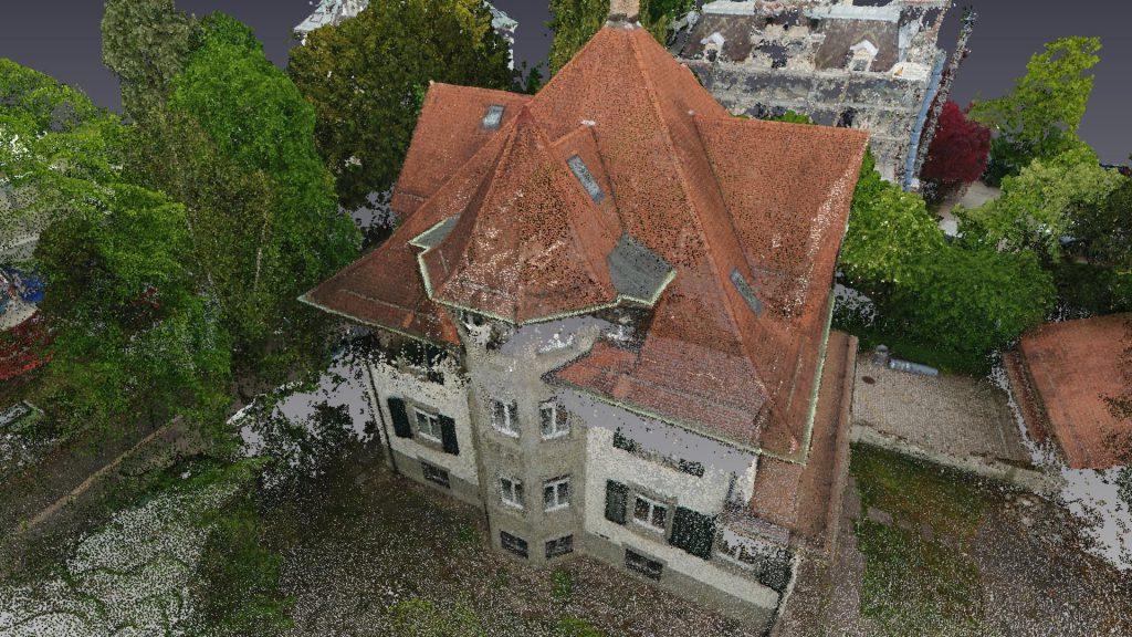 Inwentaryzacja zabytkowej willi w Zurychu